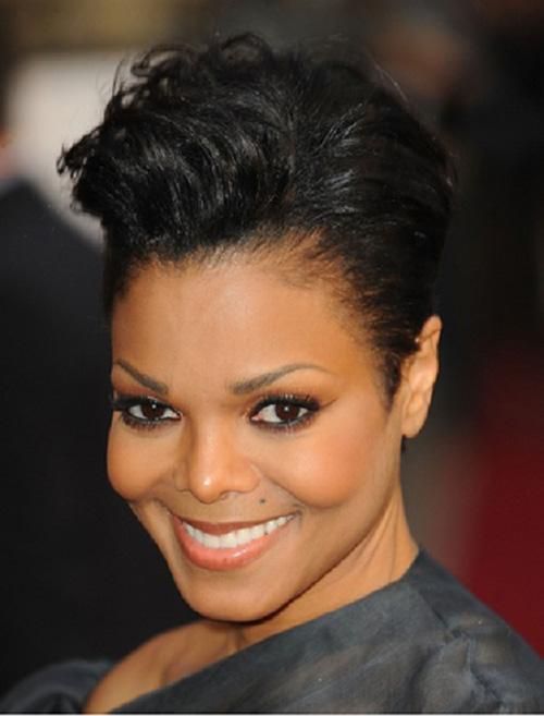 Janet Jackson Pixie Cut