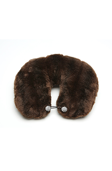 Black Glamour Mom Fashion Fix: Fur Travel Pillow