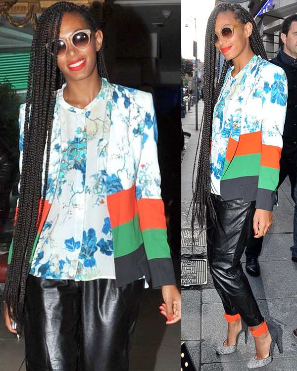 Solange Knowles in Leather Pants 2