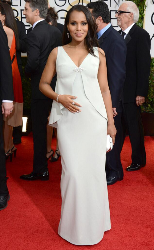BGM Celeb News: Kerry Washington Glows And Glams It Out During 2014 Golden Globe Awards