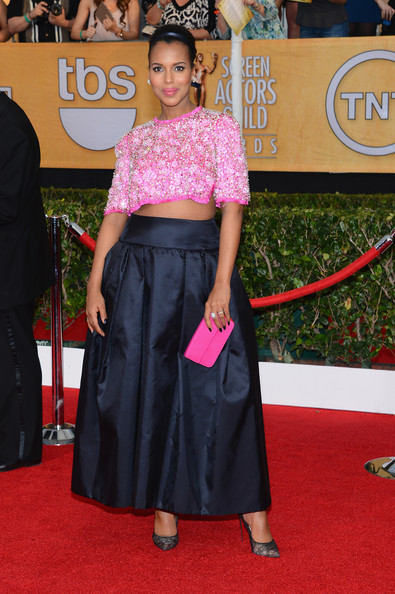 Kerry Washington Rocks Prada Crop Top on Red Carpet
