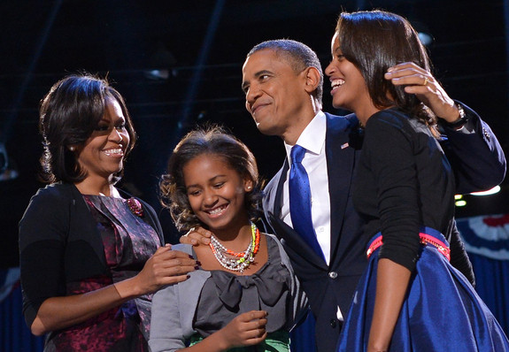 President Obama with Family