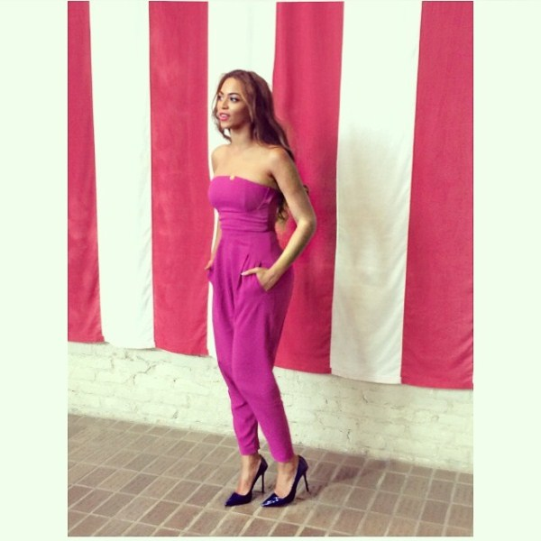 BGM Fashion Crush: Queen B's Matthew Williamson Magenta Jumpsuit