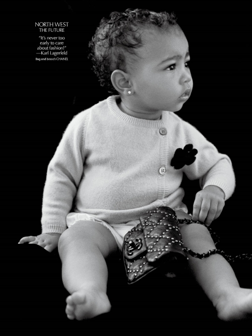 Who Said Chanel And Toddlers Don't Mix? Baby North West Makes Her Modeling Debut Drizzled in Chanel