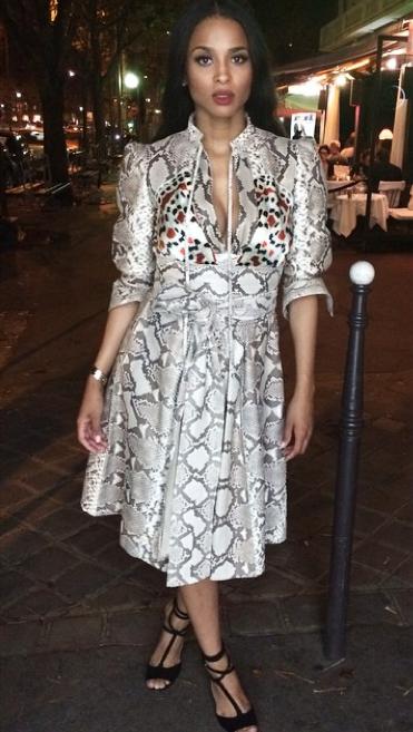 Ciara Paris Fashion Week 1