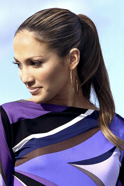 Jennifer Lopez and Ponytail
