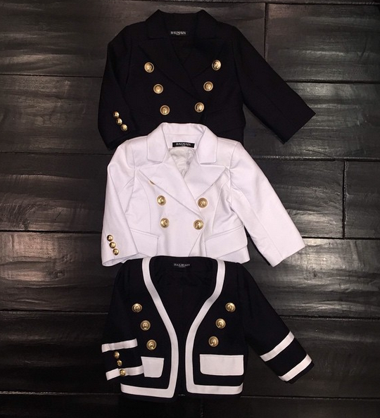 BGM Celeb Kids: North West Gifted Three Balmain Blazers