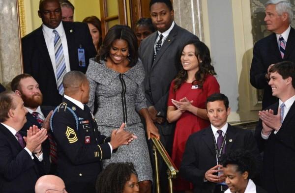 Michelle Obama Michael Kors Suit Image 2