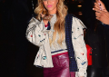 Beyonce Rocks Chanel Leather Mini at The Chanel Paris-Salzburg NY Show