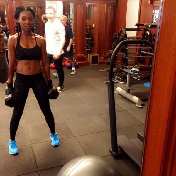 Brandy Norwood and Kickboxing piece