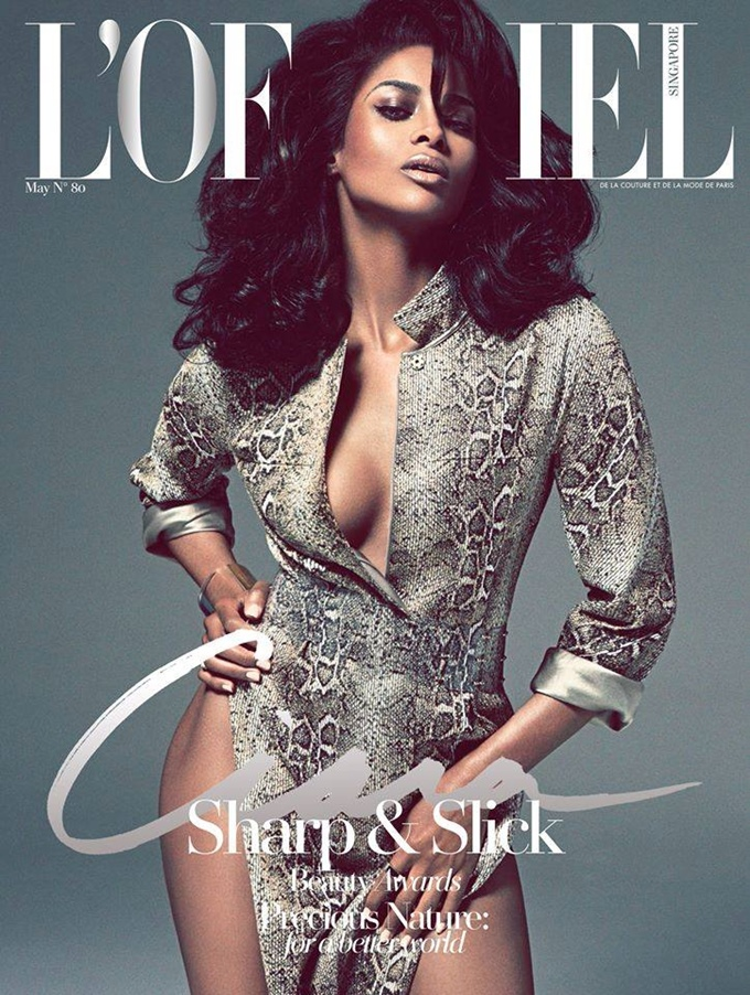 Glam Cover Moms: Ciara Gives Us Hollywood Glam on Cover of L'official Singapore