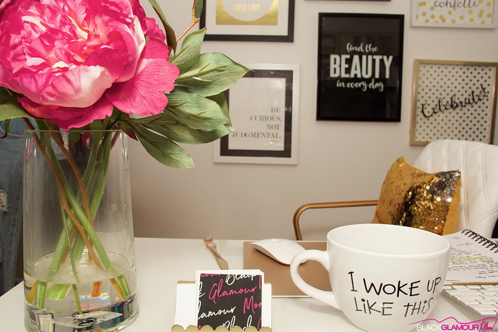 BlackGlamourMom Home Inspiration: 5 Tips For Glamming Up Your Home Office